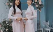 Tăng Thanh Hà diện áo dài nền nã, chiếm trọn