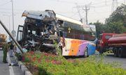 Vụ xe giường nằm tông xe tải chở gỗ: Tài xế đã tử vong