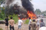 Tin trong nước - Đồng Nai: Xe khách bốc cháy trên đường quốc lộ, bé trai 14 tuổi tử vong