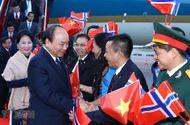 Tin trong nước - Thủ tướng Nguyễn Xuân Phúc tới Oslo, bắt đầu thăm chính thức Na Uy