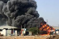 Tin trong nước - Trẻ nướng khoai bất cẩn gây cháy cả xưởng phế liệu gần 600 m2