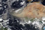 Video-Hot - Video: Cận cảnh khối bụi dài 2.400 km từ Sahara bao trùm Caribe