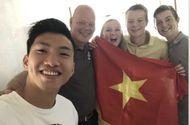 Bóng đá - Chùm ảnh: Đoàn Văn Hậu về Việt Nam trên chuyến bay từ Pháp, chuẩn bị cách ly 14 ngày