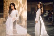 """Chuyện học đường - """"Thiên thần đồng phục"""" Hà Nội diện áo dài trắng tinh khôi khoe trọn nét đẹp trong trẻo tuổi học trò"""