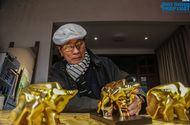 Thị trường - Cận cảnh quá trình tạo ra tượng trâu dát vàng 24K phục vụ cho đại gia mua chơi Tết Nguyên đán 2021