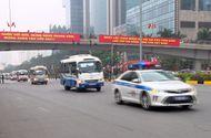 Tin trong nước - Hàng trăm cảnh sát cùng các phương tiện tổng duyệt phương án dẫn đoàn phục vụ Đại hội Đảng