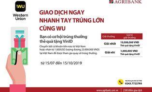 """Tài chính - Doanh nghiệp - Cùng Agribank """"Giao dịch ngay - nhanh tay trúng lớn cùng Wu"""""""