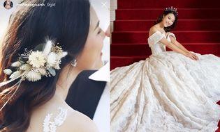 Chuyện làng sao - Á hậu Hoàng Oanh hé lộ ảnh cưới đẹp lung linh, vẫn quyết không lộ mặt chú rể