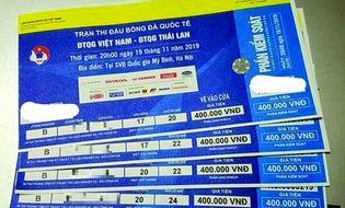 """Bóng đá - """"Đại chiến"""" Việt Nam- Thái Lan: Choáng vì dân phe vé """"hét"""" giá 6 triệu đồng/cặp vị trí đẹp"""