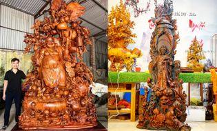 Quyền lợi tiêu dùng - Tượng gỗ Nguyễn Hồng – Lưu ý khi chơi tượng gỗ phong thủy để gia chủ làm ăn phát tài
