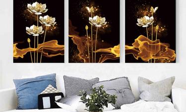 Quyền lợi tiêu dùng - Những bức tranh hoa sen treo phòng khách đẹp và sang trọng