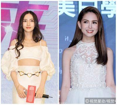 Angelababy và vợ Châu Kiệt Luân đọ vẻ đẹp lai với váy trắng - ảnh 1