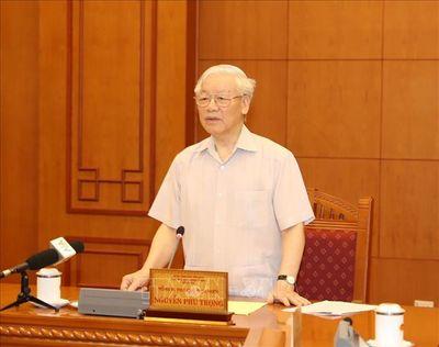 Tổng Bí thư, Chủ tịch nước Nguyễn Phú Trọng chủ trì họp Tiểu ban Nhân sự Đại hội XIII của Đảng - ảnh 1