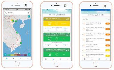 Triển khai ứng dụng thông tin chất lượng không khí trên điện thoại di động - ảnh 1