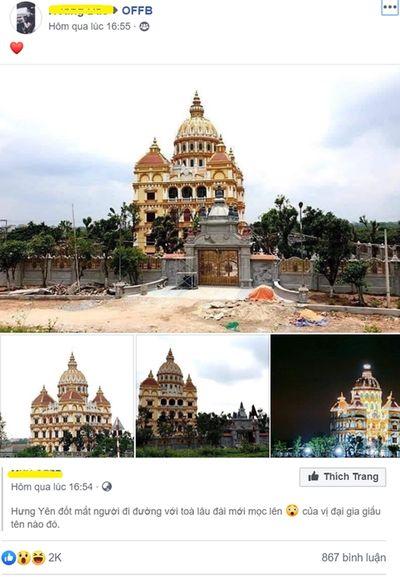 Dân mạng xôn xao hình ảnh lâu đài hoành tráng của đại gia Hưng Yên - ảnh 1