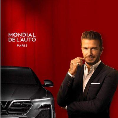 David Beckham cùng Hoa hậu Tiểu Vy dự lễ ra mắt VinFast tại Paris Motor Show - ảnh 1
