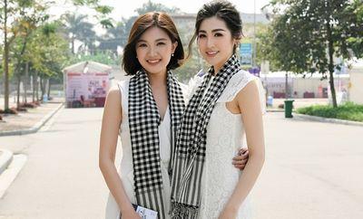 """Lương Thanh """"Hoa hồng trên ngực trái"""" đọ sắc với á hậu Tú Anh trong sắc trắng - ảnh 1"""