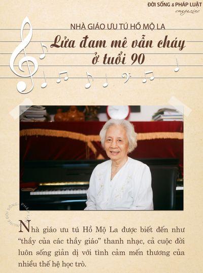 [E] Nhà giáo ưu tú Hồ Mộ La: Lửa đam mê vẫn cháy ở tuổi 90 - ảnh 1