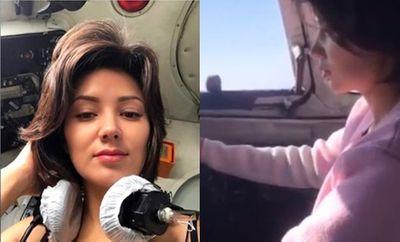 Hốt hoảng cảnh phi công để nữ hành khách vô tư điều khiển máy bay - ảnh 1