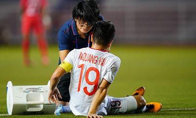 Quang Hải lỡ trận gặp U22 Thái Lan vì bị rách cơ đùi, đối mặt nguy cơ chia tay SEA Games - ảnh 1