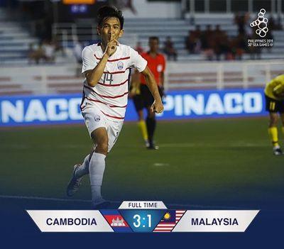 Báo Campuchia hân hoan trước chiến thắng lịch sử của đội nhà - ảnh 1