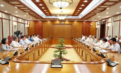 Tổng Bí thư, Chủ tịch nước Nguyễn Phú Trọng chủ trì họp Bộ Chính trị - ảnh 1