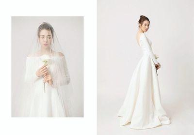 Đàm Thu Trang diện váy cô dâu lộng lẫy, tin đồn đám cưới tháng 7 là thật? - ảnh 1
