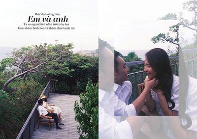Cường Đô la - Đàm Thu Trang tung ảnh cưới toàn những lời ngôn tình đầy say đắm - ảnh 1