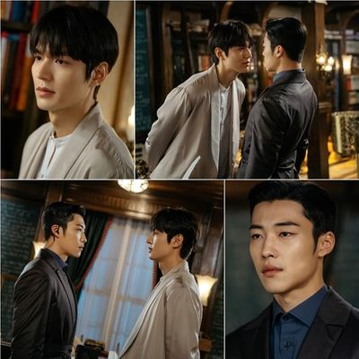 """Khoảnh khắc đối mặt """"tóe lửa"""" giữa Lee Min Ho và bạn diễn nam khiến dân tình xôn xao - ảnh 1"""
