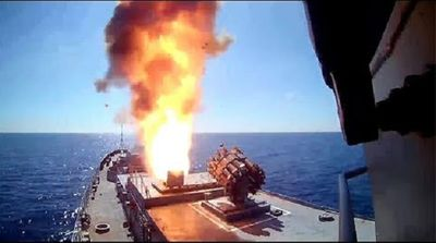 Tàu chiến Nga phóng dồn dập 6 tên lửa hành trình vào các mục tiêu của IS ở Syria - ảnh 1
