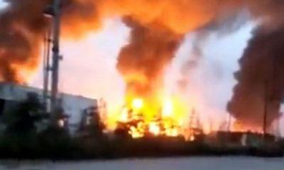 Nổ lớn ở nhà máy hóa dầu Trung Quốc, 7 người thương vong - ảnh 1