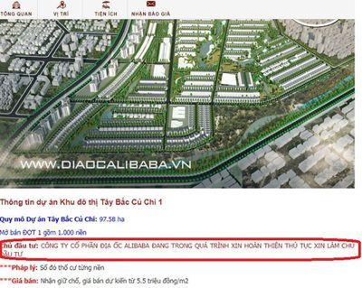 """500 người đặt tiền mua nhà dự án """"ảo"""", địa ốc Alibaba thu hơn 17 tỷ đồng - ảnh 1"""