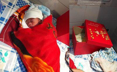 Cán bộ xã bàng hoàng phát hiện bé gái 1,3kg bị bỏ rơi trước cửa nhà - ảnh 1