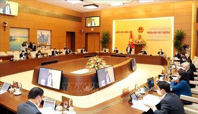 Ủy ban Thường vụ Quốc hội họp phiên bất thường - ảnh 1