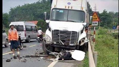 Xe container lấn làn, gây tai nạn liên hoàn khiến 1 người chết - ảnh 1