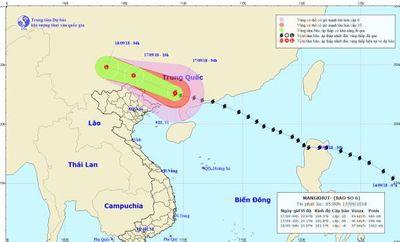 Ảnh hưởng hoàn lưu bão số 6, Quảng Ninh, Lạng Sơn có gió giật cấp 8 - ảnh 1