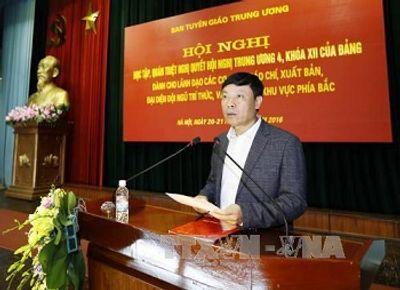Quán triệt Nghị quyết Trung ương 4 cho lãnh đạo cơ quan báo chí khu vực phía Bắc - ảnh 1