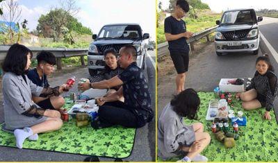 Dân mạng bức xúc với nhóm người mở tiệc trên đường cao tốc Nội Bài - Lào Cai - ảnh 1