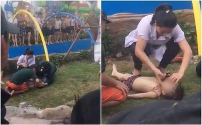 Vui chơi ở công viên nước đẹp nhất Hà Nội, bé trai 4 tuổi nhập viện do đuối nước - ảnh 1