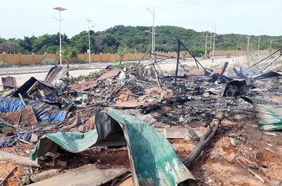 Khánh Hòa: Cháy nổ tại dự án sân golf, 2 người chết, 9 người bị thương - ảnh 1
