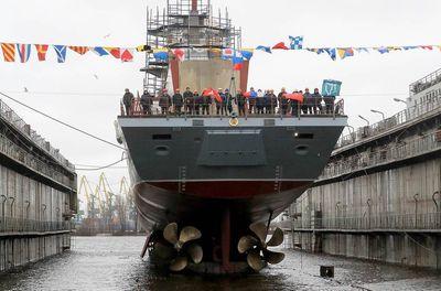 Tàu hộ tống của Nga khoe sức mạnh như vũ bão trong đợt tập trận  - ảnh 1