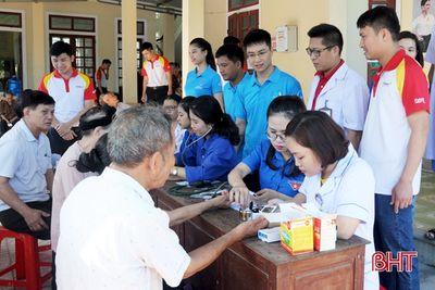 Hà Tĩnh: Khám, cấp phát thuốc miễn phí cho 120 người cao tuổi  - ảnh 1