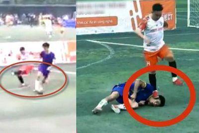 Dân mạng xôn xao với cảnh cầu thủ nằm sân vì đau còn bị đối phương đạp chân lên mặt - ảnh 1