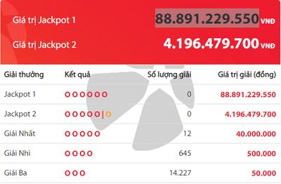 Kết quả xổ số Vietlott hôm nay 11/7/2019: Tìm chủ nhân cho Jackpot hơn 88 tỷ đồng - ảnh 1