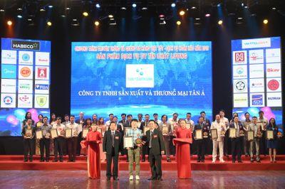 Tân Á Đại Thành nhận cú đúp giải thưởng hàng Việt chất lượng tốt  - ảnh 1