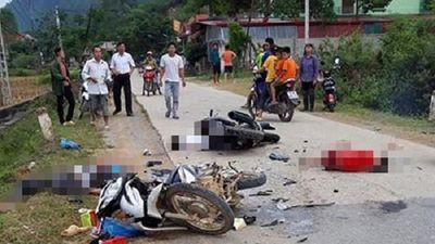 Lạng Sơn: 2 xe máy đâm trực diện, 5 người thương vong - ảnh 1