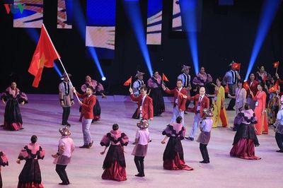 Phần diễu hành của đoàn thể thao Việt Nam trong lễ khai mạc SEA Games 30 - ảnh 1