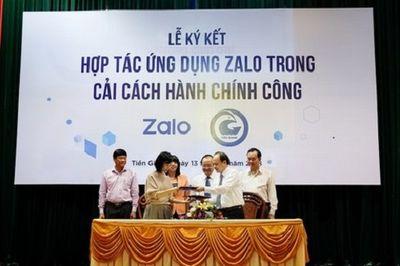 Nhiều tỉnh, thành phố dùng Zalo để giải quyết thủ tục hành chính - ảnh 1
