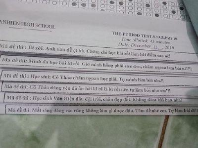 """Học sinh """"vã mồ hôi"""" với mã đề thi """"bá đạo"""" của giáo viên môn Toán - ảnh 1"""