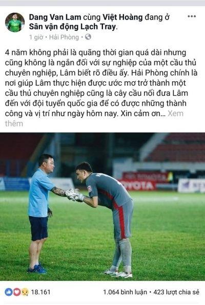 Đặng Văn Lâm viết tâm thư xúc động chia CĐV để sang Thái Lan thi đấu - ảnh 1